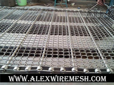 chain driven conveyor belt